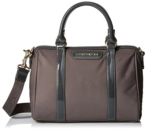 lancaster-paris-womens-nylon-patent-duffle-grey