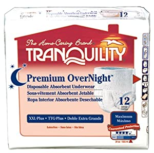 Tranquility Premium OverNight Pull-On Underwear XXL Pack/12 (62-80 in.) from Principle Business Enterprises