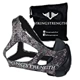 Vikingstrength Fitness Mask Pro - For Running, Biking and Fitness, With Adjustable Resistance, High Altitude Elevation Mask for Training (Green digital camo)