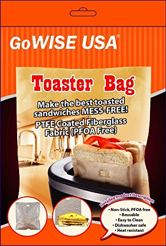 GoWISE USA Non-Stick Reusable Toaster Bags 6.7