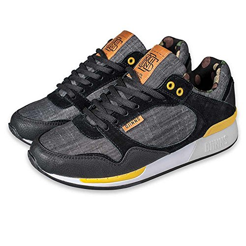 Djinns Uniform - EASY RUN #2 - Low Top Sneaker - Runner - Schwarz-46