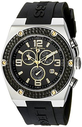Swiss Legend Men's SL-30025-01-BB-GA Throttle Black Silicone Watch