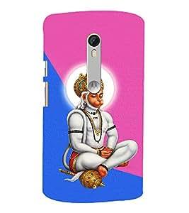 Monojavaya Hanuman 3D Hard Polycarbonate Designer Back Case Cover for Moto G Turbo Edition