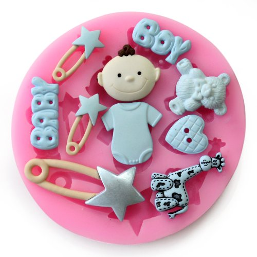 Yunko Baking Molds 3D BOY BABY Toy Silicone Mold Fondant Molds Sugar Craft Tools Chocolate Mould For Cakes