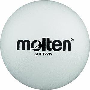 Molten Soft-VW Ballon mousse volley-ball Blanc Ø 210 mm