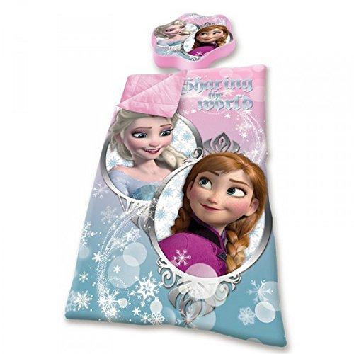 Disney-Frozen-Die-Eisknigin-Schlafsack-mit-Kissen