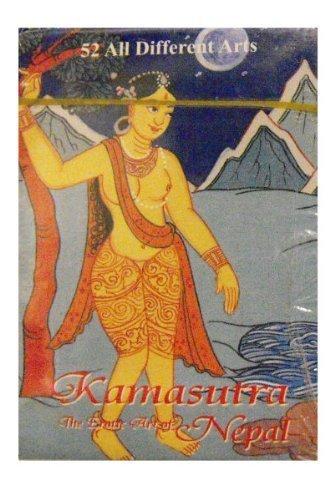 Tradizionale Kama Sutra Carte da Gioco featuring immagini da Il grande Indian Manuale di Amore; il Kamasutra di Vatsyayana. Con Dancing Girl sul retro