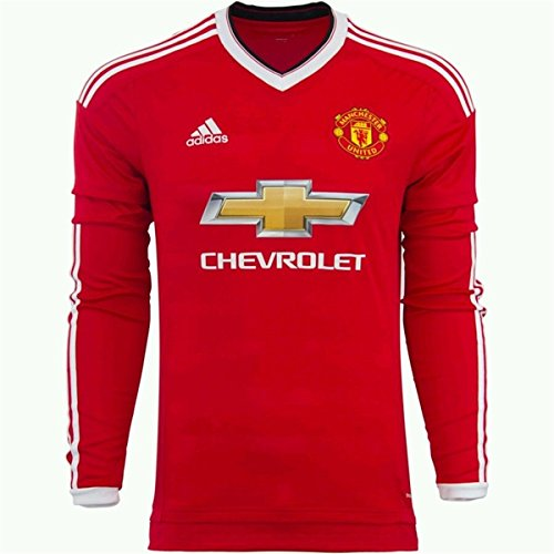 Adidas Manchester United FC Home Long Sleeve Jersey-REARED (S) (Manchester United Classic compare prices)