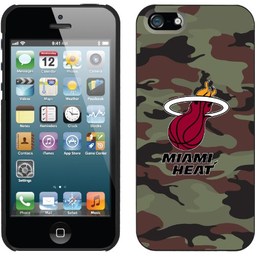 Great Price Miami Heat - Camo design on a Black iPhone 5 Thinshield Snap-On Case by Coveroo