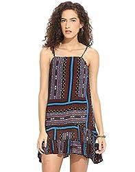 Printed Short Dress X-Large
