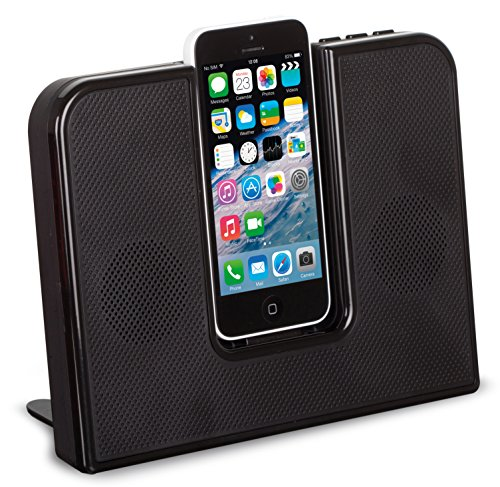 Kitsound Impulse Dock Altoparlante con Connettore Lightning per iPhone 5/5S/5C, iPod Touch 5A Generazione, Nero