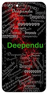 Deependu (Moon) Name & Sign Printed All over customize & Personalized!! Protective back cover for your Smart Phone : Samsung Galaxy A-3