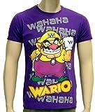 Coole-Fun-T-Shirts T-Shirt Wario Super Mario Nintendo Wii purple Size:L