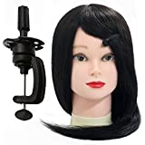 """Neverland Beauty 26"""" 100% Synthetic Long Hair Hairdressing Cosmetology Mannequin Manikin Training Head Model with Clamp"""