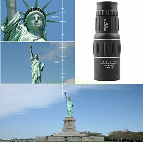 Day & Night Vision 16x52 HD Optical Monocular Hunting Camping Hiking Telescope (Boat Flag Pole Bracket compare prices)