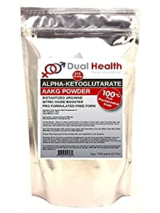 Pure AAKG (1 kilogram (2.2 lb)) L-Arginine Alpha-Ketoglutarate Powder Bulk Supplements