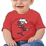 KKing Cartoon Shrimp Kid's Cartoon T Shirt Red 12 Months