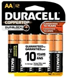Duracell Batteries, Alkaline, AA 12 batteries
