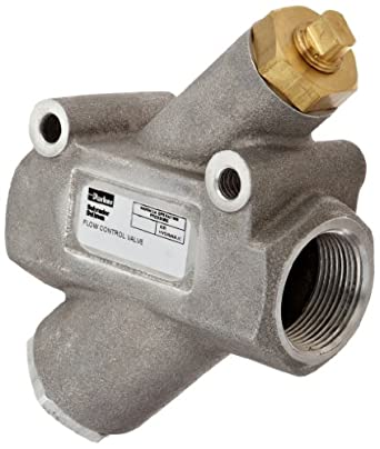 "Parker 032501250 3250 Series Aluminum Inline Flow Control Valve, 1-1/4"" NPTF, 250 psi, Standard Adjustment"