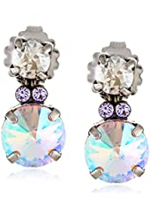 "Sorrelli  ""Dixie"" Circular Crystal Cluster Post Earrings"