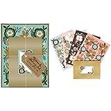 Elegant Boxed Letter Writing Set - Botanical Notes