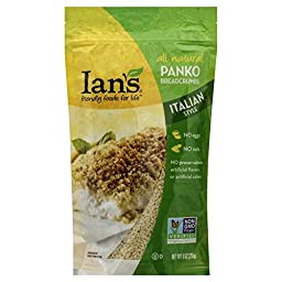 Ian\'s Panko Bread Crumbs Italian 9.0 OZ (Pack of 2)