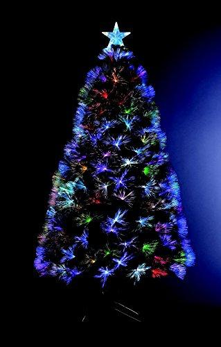 Albero di Natale Fibra ottica H120 cm Fiabesco