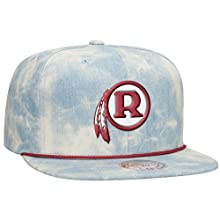 Washington Redskins NFL Lite Acid Wash Denim Snapback Cap by Mitchell & Ness