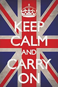 1art1 48799 Poster Motivation Keep Calm And Carry On Union Jack 91 X 61 cm