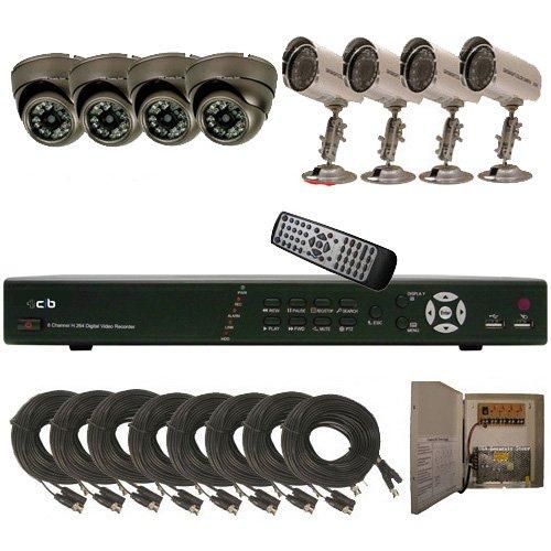 CIB K808W500G8653-8401 8CH Network Security Surveillance DVR 500GB 8 CCD Cameras KIT.