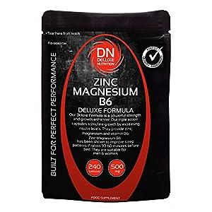 Zinc Magnesium B6 240 Capsules 500mg Deluxe Formula (formally ZMA Deluxe Formula)