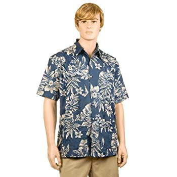 Slate Palm & Plumeria Hawaiiabera Shirt
