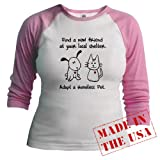 Find a New Friend Pets Jr. Raglan by CafePress