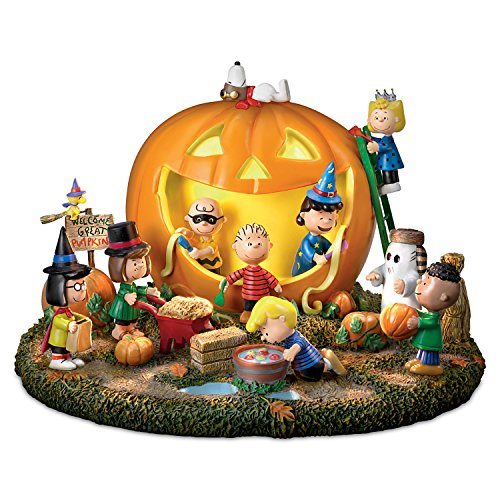 Peanuts Great Pumpkin Carving Party Halloween Sculpture With Light And Sound