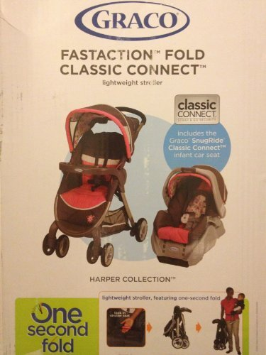 Graco Childrens Products Grace FastAction Fold Classic Connect Travel System - Harper at Sears.com