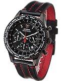 Detomaso FIRENZE Chronograph SL1624C-BK1 SL1624C-BK1 - Reloj analógico de cuarzo para hombre, correa de cuero color negro (cronómetro)