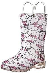Western Chief Kids Hello Kitty Light-Up Rain Boot(Toddler/Little Kid), Pink, 11 M US Little Kid