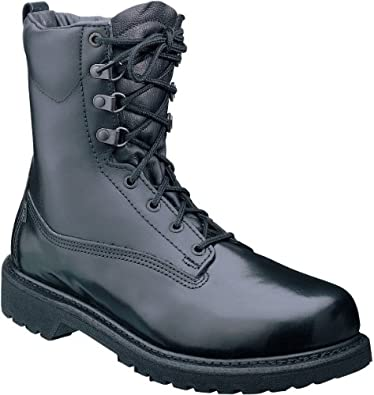 "ROCKY 5066 8"" Basic Black Boots Work Shoes Mens Size 8"