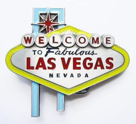 belt buckles men western cowboys cool vintage harley welcome to Las Vegas sign color