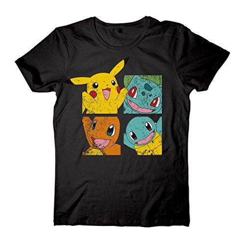Pokémon - Pikachu & Amigos Unisex Tamaño Mediano