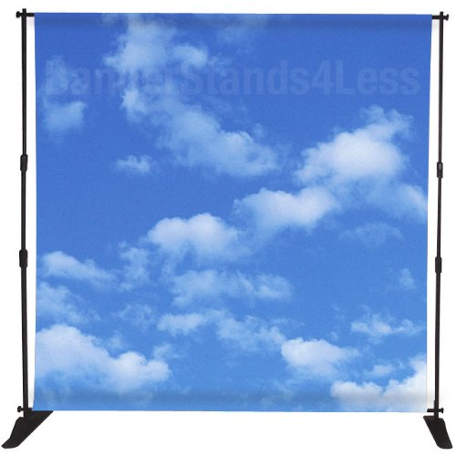 8X8 Ft Telescopic Banner Stand Step And Repeat Adjustable Backdrop Display Stand