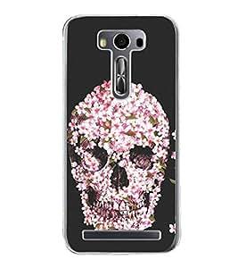Flower Skull 2D Hard Polycarbonate Designer Back Case Cover for Asus Zenfone Selfie ZD551KL