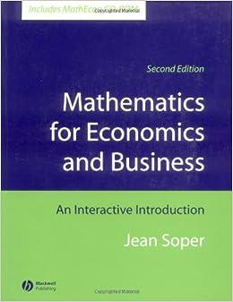 Amazon.com: Mathematics for Economics and Business: An