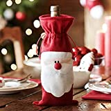 Megadream® Christmas Santa Claus Wine Bottle Decoration Bag Cover for Xmas Gift Dinner Party Table Decor - 10PCS