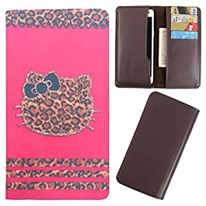 DooDa - For Karbonn S5+ Titanium PU Leather Designer Fashionable Fancy Case Cover Pouch With Card & Cash Slots & Smooth Inner Velvet