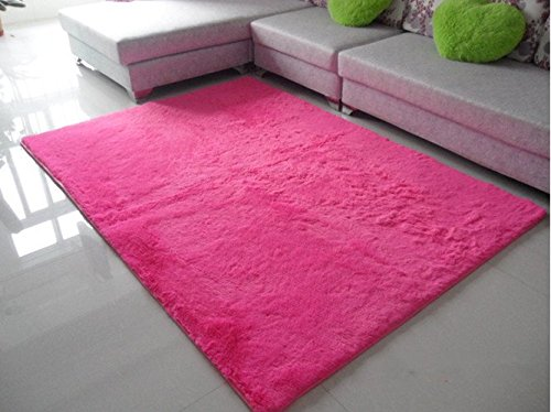 Norson Home Textiles, Ultra Soft 3 Cm Thick Indoor Morden Area Rugs Pads, New Arrival Fashion Color [Bedroom] [Livingroom] [Sitting-room] [Rugs] [Blanket] [Footcloth] for Home Decorate. (Rose, 55.1* 78.7 inches (140* 200 cm))