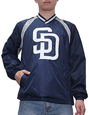 SAN DIEGO PADRES MLB Mens Athletic Wind Breaker Jacket with Lining
