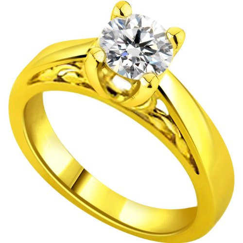Surat Diamonds Surat Diamond 18K Yellow Diamond Ring
