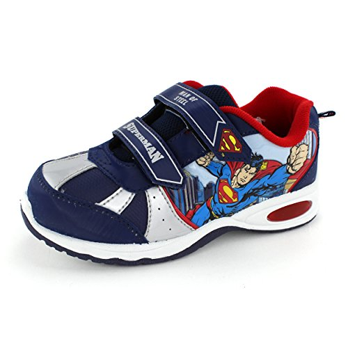superman boys blue lighted sneakers sus903 toolfanatic