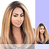 HBLDP.HUE (Motown Tress) - Human Hair Blend Lace Part Wig in F1B_PURPLE
